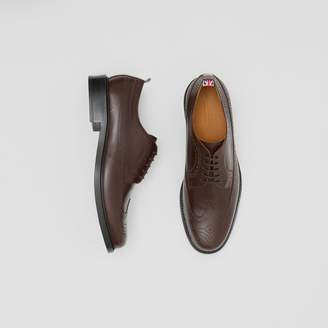 Burberry Brogue Detail Leather Derby Shoes