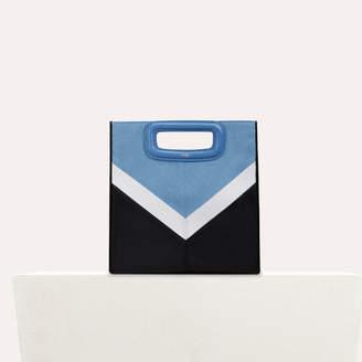 Maje Leather and denim M bag
