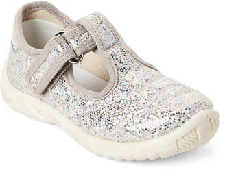 Naturino Toddler/Kids Girls) Silver Sequin Mary Jane Sneakers