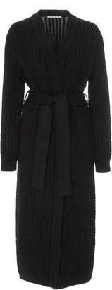 Alessandra Rich Belted Ribbed-Knit Cardigan
