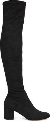 Reiss MARGI OVER-THE-KNEE SUEDE BOOTS Black