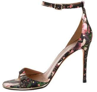 Givenchy Leather Floral Print Sandals