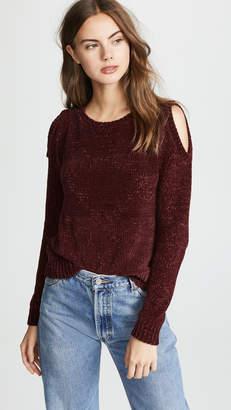 BB Dakota Hot N' Cold Velour Sweater