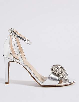 Marks and Spencer Stiletto Heel Jewelled Bow Sandals