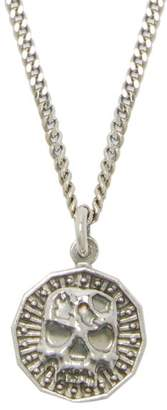 Emanuele Bicocchi Skull Coin Sterling Silver Necklace - Mens - Silver