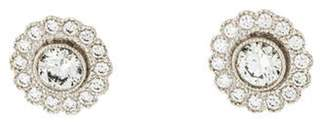 Tiffany & Co. Platinum Diamond Enchant Stud Earrings Platinum Diamond Enchant Stud Earrings