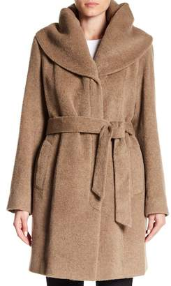 Cole Haan Alpaca Wool Oversized Collar Coat