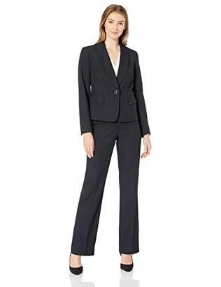 Le Suit Women's 1 Button Shawl Collar Pant Suit