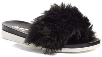 Seychelles Beyond Reason Faux Fur Slide Sandal