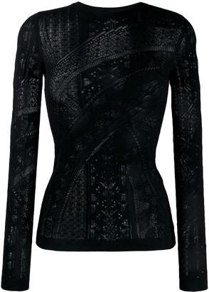Roberto Cavalli long sleeve lace top
