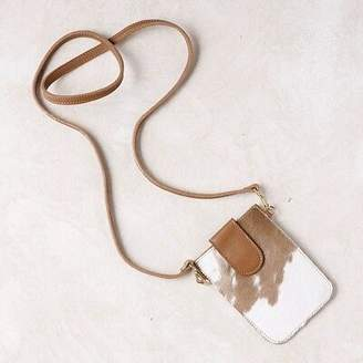 NEW Mobile Phone Holder in Tan Cowhide Women's by CAROLINA