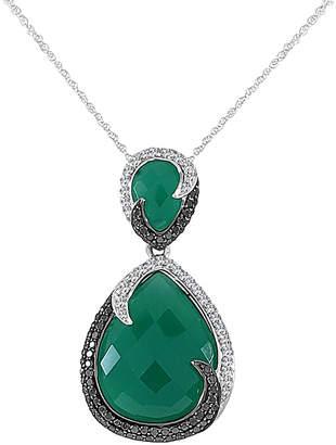 Sabrina Designs 14K 19.47 Ct. Tw. Diamond & Onyx Necklace