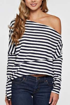 Love Stitch Off Shoulder Sweater