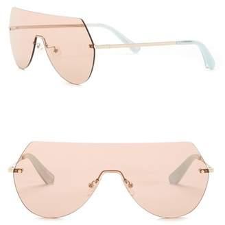 Elizabeth and James Johnston 138mm Rimless Shield Sunglasses