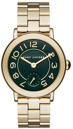 Marc Jacobs Marc Jacobs Riley Goldtone Stainless Steel Bracelet Dress Watch, CLSC36IPGBRCGRE