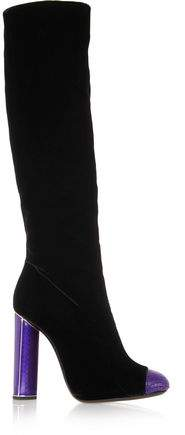 Tom Ford Bead-Embellished Velvet Knee Boots