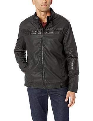 Silver Jeans Men's Perforated Faux Leather Jacket