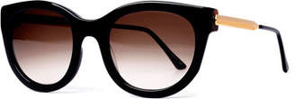 Thierry Lasry Lively Limited Edition Vintage-Pattern Square Sunglasses, Black