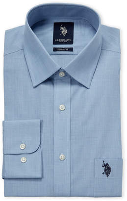 U.S. Polo Assn. Blue Slim Fit Dress Shirt
