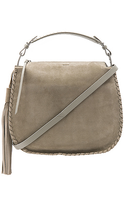 ALLSAINTS Mori Hobo in Gray. $378 thestylecure.com