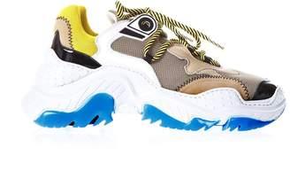N°21 N.21 Billy White & Beige Running Sneakers
