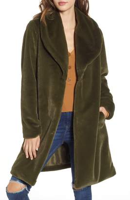Leith Faux Fur Long Coat