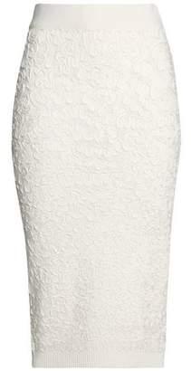 Michael Kors Soutache Grosgrain-appliqued Open-knit Skirt