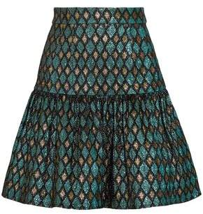 Dolce & Gabbana Gathered Metallic Jacquard Mini Skirt