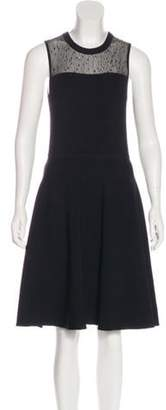 Jason Wu Knit Knee-Length Dress Black Knit Knee-Length Dress