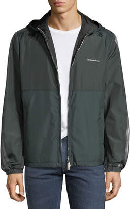Stefano Ricci Men's Water-Repellant Hooded Jacket