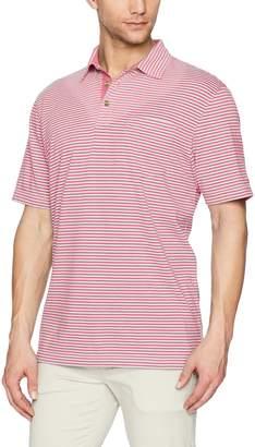 Izod Men's Short Sleeve Self Collar Stripe Shirt
