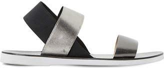 Dune Lacer - elasticated strap flat sandal