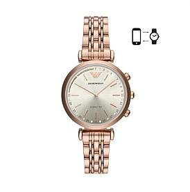 Emporio Armani Men'S Rose Gold-Tone Hybrid Smartwatch