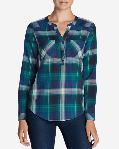 Eddie Bauer Women's Tree Line Double-Cloth Tunic Shirt