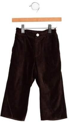 CZ by Carolina Zapf Boys' Velvet Straight-Leg Pants
