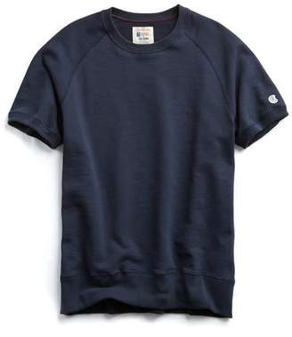 Todd Snyder + Champion Short Sleeve Sweatshirt in Navy