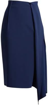 CARL KAPP Tawaret draped pencil skirt