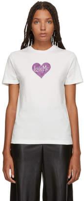 ALEXACHUNG Ivory Love Me Glitter T-Shirt