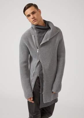 Emporio Armani Patterned Jacquard Crew-Neck Sweater