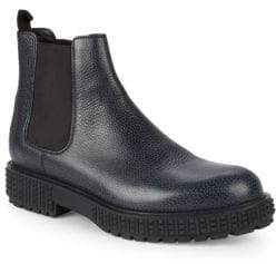 Valentino Leather Chelsea Boots