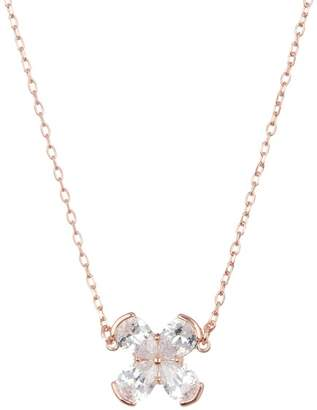 Cole Haan CZ Flower Pendant Necklace