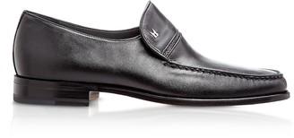 Moreschi Bonn Black Lambskin Loafer Shoes