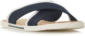 Dune Isco Canvas Strap Cork Sandals