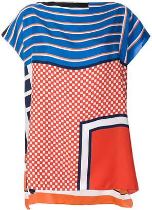 Pierre Louis Mascia Pierre-Louis Mascia printed cap sleeve blouse