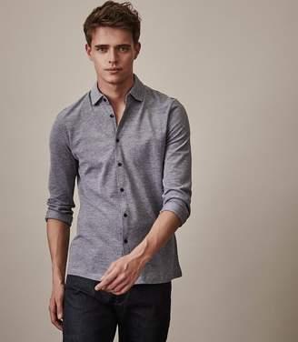 Reiss Craig Long Sleeved Button Through Shirt