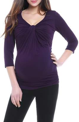 Kimi and Kai Grace Twist Knot Maternity Top
