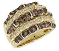 LeVian Le Vian Chocolate Diamonds, Vanilla Diamonds & 14K Honey Gold Ring