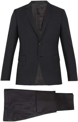 Valentino Striped notch-lapel wool suit