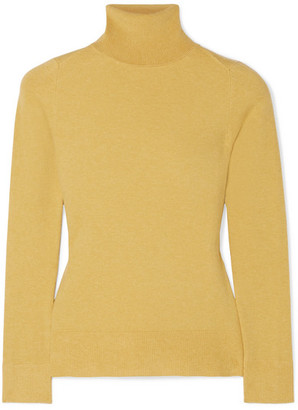 JoosTricot - Stretch Cotton-blend Turtleneck Sweater - Yellow