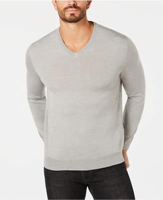 Club Room Men's Merino Performance V-Neck Sweater